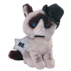 Our Grumpy Cat Cowboy Plush Toy is fun Gund plush toy designed after internet sensation Grumpy Cat. It will make a much loved gift for adults and children of all ages on special occasions. Order your Grumpy cat online or by telephone. Grumpy Cat Plush, Grumpy Face, Cat Lover Gifts, Cat Gifts, Cat Lovers, Grump Cat, Cat Dressed Up, Cat Online, Unicorn Cat
