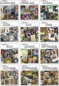 12 months OF SAINTS: building your own custom Catholic calendar? FREE printable! No code needed!