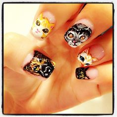 You know for all the crazy pet people out there ;) We do love our animals and we are guessing these nails were incredibly hard to do...look at that detail?