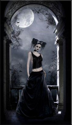 -Gothic Rose-by ~BlackRibbonRose Digital Art / Photomanipulation / Dark Vampire Pictures, Gothic Pictures, Gothic Images, Fairy Pictures, Dark Gothic Art, Gothic Fantasy Art, Gothic Fairy, Fantasy Women, Emo Art
