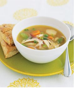 """All the best """"Dr. Moms"""" out there know there is nothing better for a cold than rest and a warm bowl of chicken soup! One of my favorite ways to alleviate cold symptoms is a soup recipe that also in..."""