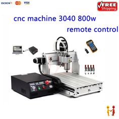 1430.00$  Watch here  - CNC Router machine 4030Z USB 3axis with mach3 remote control with 800W VFD water cooling spindle and water pump