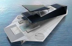 Origami Yacht - Now here is a dramatic sea vessel! The Origami Yacht actually contains walls that fold for a full-on ocean experience. Fabio Federici designed this...