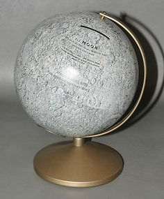 RAREST 1960s Replogle Moon Globe Coin Bank: No successful U.S. moon landings on eBay!