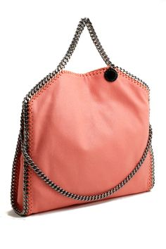 1f2d75d246 Stella McCartney falabella three chain peony pink tote bag Stella McCartney  shop online