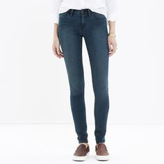 """madewell legging skinny jean in arctic blue - 28 15% off bundles - ships from portland! // the kind of jeans that give you """"legs for days"""", who doesn't want that? //  madewell's stretchiest jeans—just slip on + go // sits at hip // fitted throughout, skinny legging-slim jean // machine wash // sold out!  size: 28  measurements: 7.5"""" front rise, 30"""" inseam  material: cotton, poly, spandex  color: arctic blue (also available in cyclone wash (fab faded black) in closet!)  retail: $98.5…"""