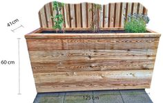 Gjør det selv – blomsterkasse i Sibirsk Lerk med selvvanning – Gjør det selv Outdoor Furniture, Outdoor Decor, Outdoor Storage, Planters, Wood, Outdoors, Gardening, Home Decor, Patio