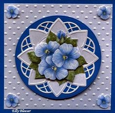 Marianne Design Cards, Paper Embroidery, 3 D, Decorative Plates, Painting, Flowers, Painting Art, Paintings, Painted Canvas