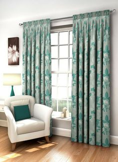 Image for Kingston, Teal - Ready Made Curtains