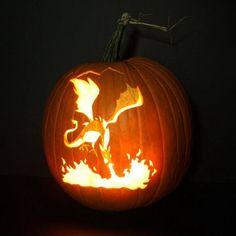 Smaug Pumpkin :)