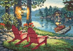 """Gold Collection Twilight's Calm Counted Cross Stitch Kit-16""""X11"""""""