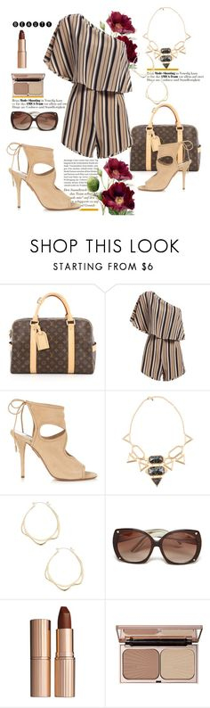 """Romper.."" by csfshawn ❤ liked on Polyvore featuring Louis Vuitton, Aquazzura, Isharya, Tom Ford and Charlotte Tilbury"