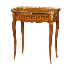 Louis XV Style Parquetry Side Table