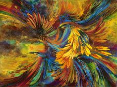"""""""Bee-Eaters"""" - Limited Edition Fine Art Reproduction by artist De Gillett, available now at http://www.artreproductions.com.au/gallery.php?artid=2845"""