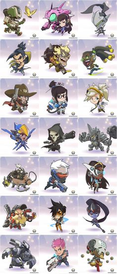 Bastion is just to precious  on this. Still a jerk tho lol Chibi Overwatch, Overwatch Reaper, Overwatch Drawings, Overwatch Comic, Overwatch Fan Art, Overwatch Tattoo, Overwatch Bastion, Overwatch Wallpapers, Chibi Characters