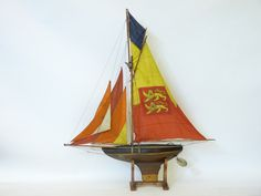 A Victorian pond yacht Sold for £380 on 29th July 2015