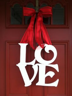Valentines Day Wreath, LOVE Wreath, Wedding Wreath on Etsy, $60.00