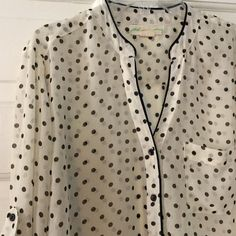 """Staring at Stars ivory roll tab sheer blouse Sleeves can be worn down or rolled up; both styles shown. 100% polyester. Underarm across 17"""". Length 29"""". Bundle for even bigger savings! Offers welcome. No trades. Urban Outfitters Tops Blouses"""
