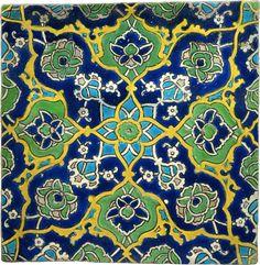 tile from istanbul circa 1522 arabesque