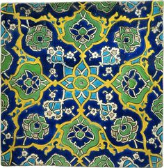 tile from istanbul circa 1522 arabesque