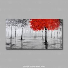 Hand-Painted Oil Painting on Canvas Wall Art Abstract Contempory Trees Forest Grey One Panel Ready to Hang Tree Wall Painting, Oil Painting On Canvas, Painting Shoes, Hand Painting Art, Canvas Pictures, Art Pictures, Abstract Wall Art, Canvas Wall Art, Art Abstrait