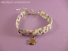 Bracelet Liberty - breloque étoile argentée - Marguerite : Bracelet par aeden