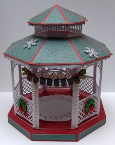 My Gazebo created from Monica's Creative Room SVG file and my Cricut Explore and Design Space.