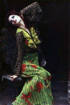 No WAY! Fabulous. Ossie Clark dress, Model Gala Mitchell, 1960's