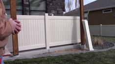 A concrete vinyl Deco Rail install for a customer in Eaton, Colorado. The lineal footage of the project Independent Insurance, Building, Outdoor Decor, Home, Buildings, Ad Home, Homes, Construction, Haus