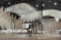 Alumafel pavilon by Pedro García Martinez Madrid Exhibition Stand Design, Exhibition Display, Exhibition Space, Display Design, Booth Design, Banner Design, Artistic Installation, Interactive Installation, Paper Installation