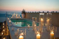 Real Wedding: Candlelight in Greece (Santorini, Greece)