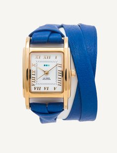 Deep Blue-Gold Milwood Double Strap Watch #lamercollections #lamerlove