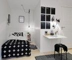 Two Room Apartment Characterized by Simple Forms and Stylish Decors