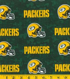 Green Bay Packers NFL Digital Cotton Fabricby Fabric Traditions