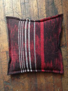 Hand Woven Ikat Throw Pillow by HandWovenHistory via Etsy