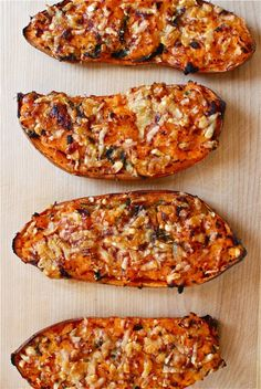 Baked Sweet Potato Recipe Ideas - Twice Baked Parmesan Sweet Potatoes