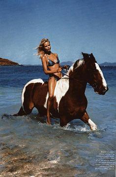 Natasha Poly on Vogue Paris 2010, Beautiful horse!