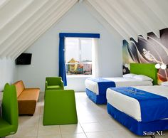 Suite Room XL. Otrobandahotel.com, small boutique hotel in curacao, willemstad