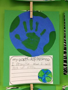 earth day pledge from could also use for WOW journey to show water ves land, salt water vs fresh & pledge to save water: http://thefirstgradeparade.blogspot.com/