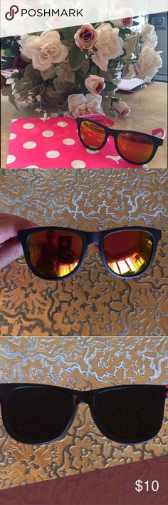 NEW VS PINK SUNGLASSES New VS PINK sunglasses..black & pink frames..mirrored lenses..has pink logo in black on both sides..brand new never used no tag..refer to pics.. PINK Victoria's Secret Accessories Glasses