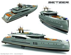 Hookah Yacht Series by Setzer Yacht Architects for NISI Yachts