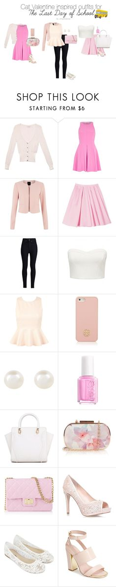 """""""Cat Valentine inspired outfits for The Last Day of School"""" by dashinggrande ❤ liked on Polyvore featuring GUESS, River Island, Carven, Rodarte, Forever New, Miss Selfridge, Tory Burch, Accessorize, Essie and Oasis"""