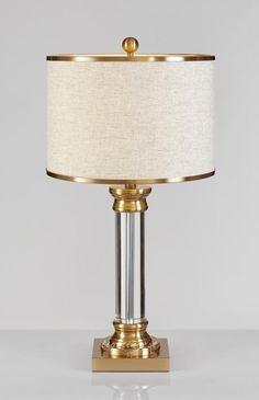 Modern American desk lamp【最灯饰】11月新品现代美式水晶铜色设计师样板房客厅卧室书房台灯