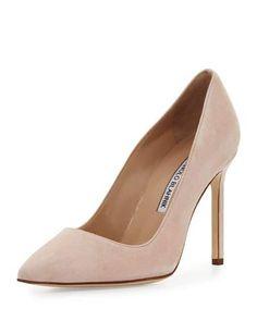 MANOLO BLAHNIK Bb Suede 105Mm Pump, Candy Pink. #manoloblahnik #shoes #pumps
