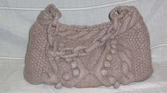 Borsa ai ferri fai da te - Borsa in lana color tortora