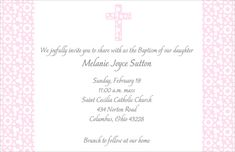 Elegant Pastel Pink Cross Invitations