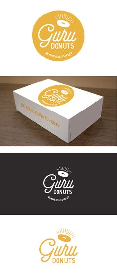 Design #15 by green in blue | Handcrafted Donut Shop needs a clever & timeless logo design. Guru Donuts : We make donuts holey.