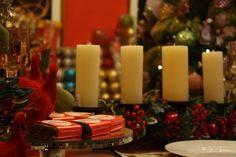Decoração de Natal com velas. #velas #natal #natal2016 #casamaia #enfeitesdenatal #decoracaodenatal #christmas #mesadenatal