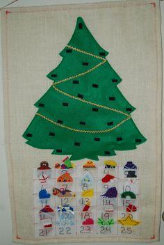 Christmas Advent Calendar Felt by bakuma on Etsy, $65.00