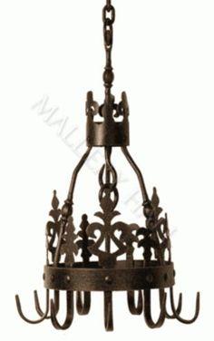 Wrought Iron Pot Rack Old World Vintage Style 750 00